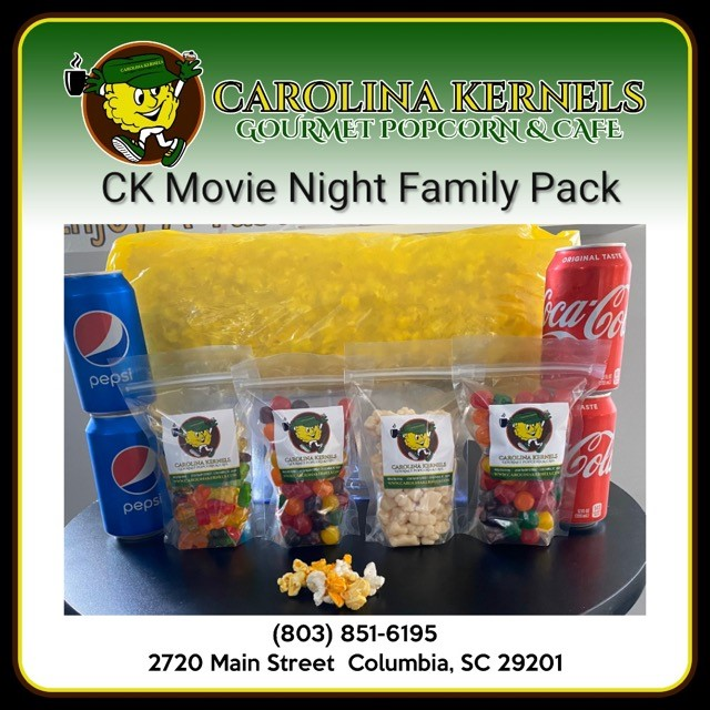 Carolina Kernels Features a Home Movie Night Package - Featured Image